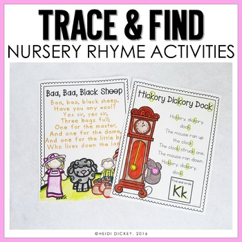 Nursery Rhyme Letter Find & Tracing Pages