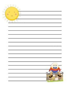 Nursery Rhyme Lined Paper