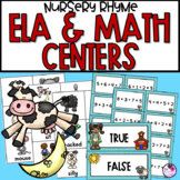Literacy and Math Centers Mother Goose Theme