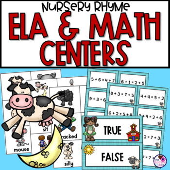 Mother goose teaching resources teachers pay teachers literacy and math centers mother goose theme fandeluxe Gallery