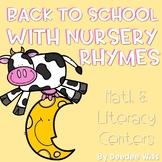 Nursery Rhyme Literacy and Math Stations for Back to School-CC
