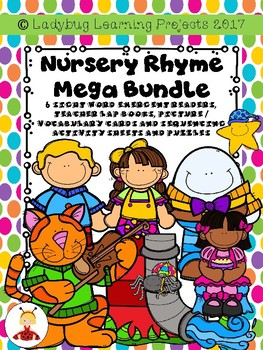 Nursery Rhyme Mega Bundle (6 Readers, 6 Lap Books, Voc./Picture Cards and More)