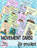 Nursery Rhyme Movement Cards for Preschool and Brain Break