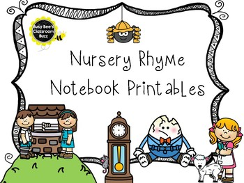 Nursery Rhyme Notebook Printables