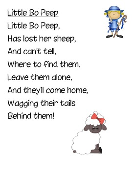 Nursery Rhyme Noun/Verb Sorts with Posters
