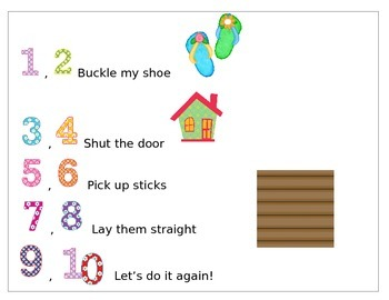 Nursery Rhyme One Two Buckly My Shoe