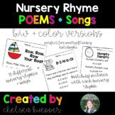 Nursery Rhyme Poems + Songs