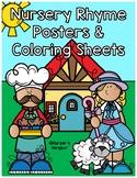 Nursery Rhyme Poster & Coloring Set