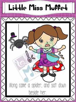 Nursery Rhyme Posters- Little Miss Muffet