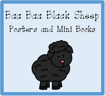 Nursery Rhyme Posters and Mini Books:  Baa Baa Black Sheep