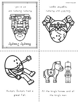 Humpty dumpty free printable book