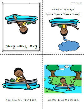 Nursery Rhyme Posters and Mini Books:  Row Your Boat
