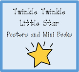 Nursery Rhyme Posters and Mini Books:  Twinkle Twinkle Lit
