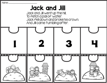 Sub Plans for Jack and Jill Sample Freebie