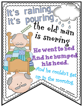 Nursery Rhyme Quick Print Banners for the Elem. Classroom - Set 3