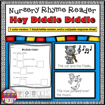 Reading Fluency Activity - Nursery Rhyme Reader: Hey Diddle Diddle {Little Book}