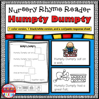 Reading Fluency Activity - Nursery Rhyme Reader: Humpty Dumpty {Little Book}