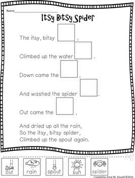Reading Fluency Activity - Nursery Rhyme Reader: Itsy Bitsy Spider {Little Book}
