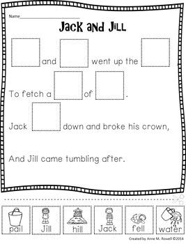 Reading Fluency Activity - Nursery Rhyme Reader: Jack and Jill {Little Book}