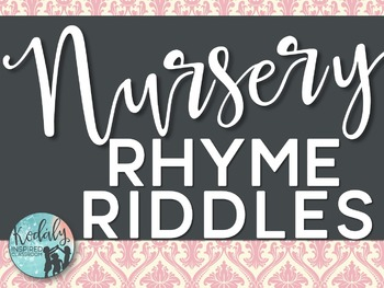 Nursery Rhyme Riddles - Interactive Game
