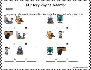 Nursery Rhyme Roll & Graph Activities