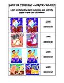 Nursery Rhyme-Same or Different