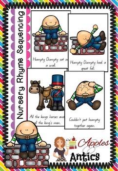 Nursery Rhyme Sequencing Cards