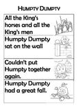 Nursery Rhyme Sequencing Task - Humpty Dumpty