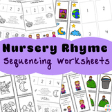 Nursery Rhymes Activities - Sequencing Worksheets + Activities