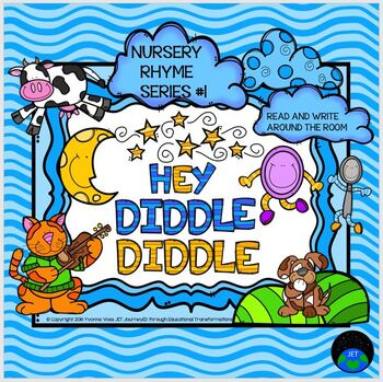 Nursery Rhyme Series #1 Hey Diddle Diddle Read and Write Around the Room