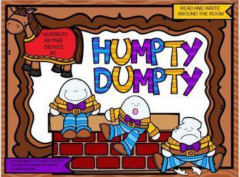 Nursery Rhyme Series #2 Humpty Dumpty Read and Write Around the Room
