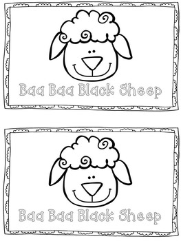 Nursery Rhyme Shared Reading Unit ~ Baa Baa Black Sheep