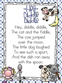 Nursery Rhyme Shared Reading Unit~ Hey Diddle Diddle