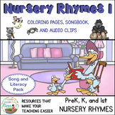 Nursery Rhyme Songbook and Coloring Pages with Audio Files & Ukulele Chords