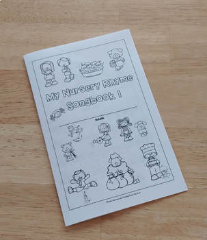 Nursery Rhyme Songbook 1 with Ukulele Chords, Coloring Pages, with Audio Files