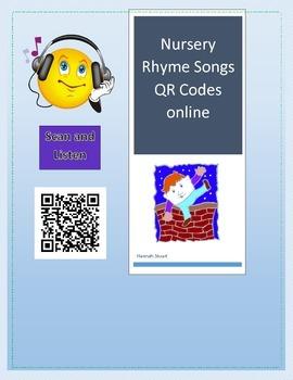 Nursery Rhyme Songs QR Code Cards