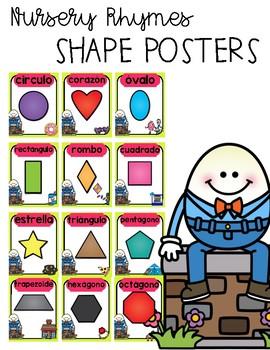 Nursery Rhyme Spanish Shape Posters