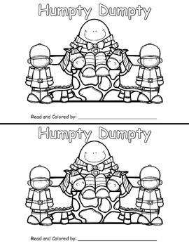 Nursery Rhyme Emergent Reader: Humpty Dumpty