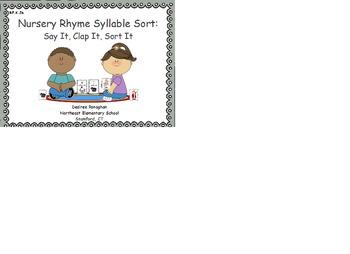 Nursery Rhyme Syllable Sort: Say It, Clap It, Sort It (RF.K.2b)