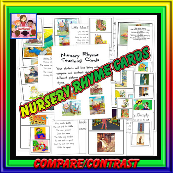 Nursery Rhyme Teaching Cards -skill of compare and contrast