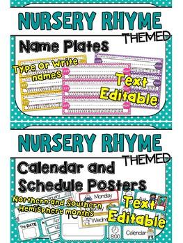 Nursery Rhyme Themed Classroom Decor Set