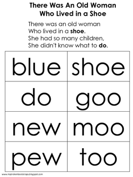 Nursery Rhyme There Was an Old Woman Who Lived in a Shoe Activities