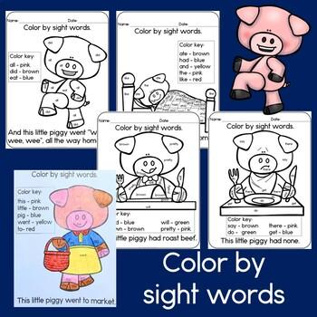Nursery Rhyme: This Little Piggy Sight Word & Literacy Activities