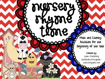 Nursery Rhyme Time (Beginning of Kindergarten Literacy and Math Stations)