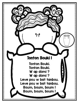 Nursery Rhyme Time: Frère Jacques in Haitian Creole, English and French (Haiti)