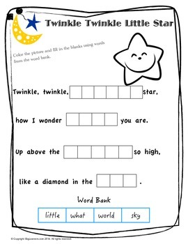"Nursery Rhyme "" Twinkle Twinkle Little Star"""