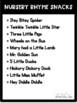 Nursery Rhyme Visual Recipes