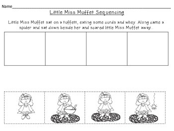 Nursery Rhyme Vocabulary Cards, Sequencing, and Matching