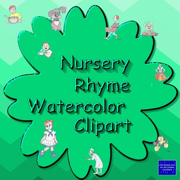 Nursery Rhyme Watercolor Art