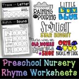 Preschool Nursery Rhyme Worksheets